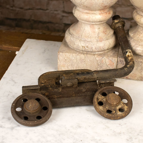 #36593 Antique Cast Iron Trolley image 5