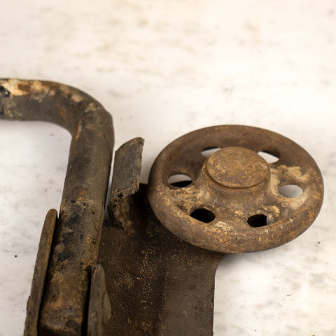 #36593 Antique Cast Iron Trolley image 7