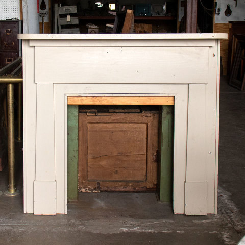 #37575 Salvaged Wood Fireplace Mantel image 1