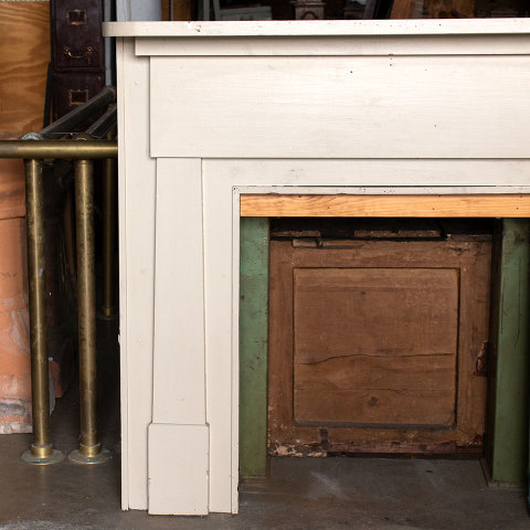 #37575 Salvaged Wood Fireplace Mantel image 2