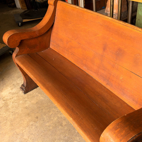 #37771 Salvaged Church Pew Bench image 4