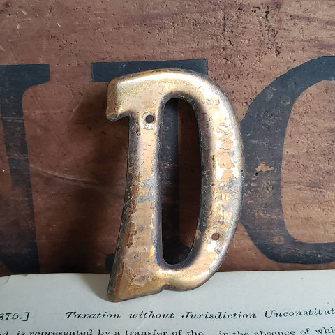 #37786 Small Metal Letter D image 1
