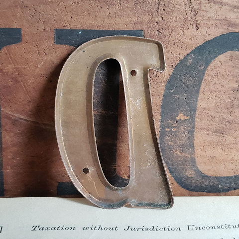 #37786 Small Metal Letter D image 3