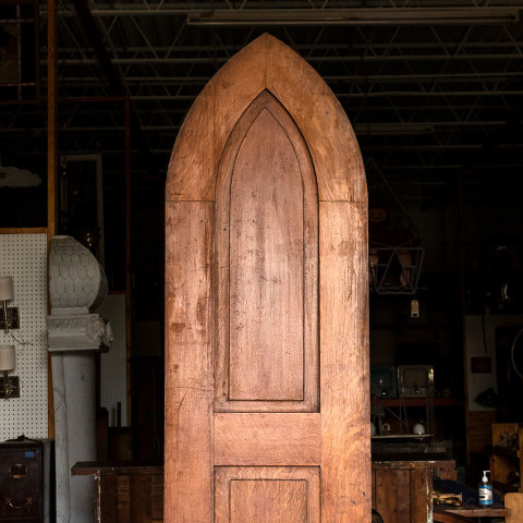 #37994 Pointed Arched Top Gothic Church Door image 2