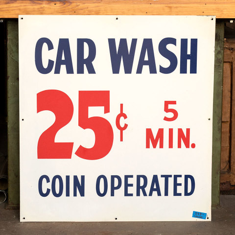 #38055 Double Sided Metal CAR WASH Sign image 1