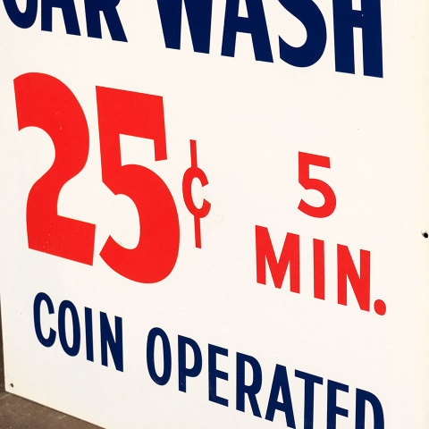 #38055 Double Sided Metal CAR WASH Sign image 2