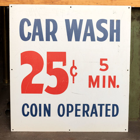 #38055 Double Sided Metal CAR WASH Sign image 4