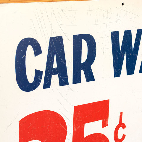 #38055 Double Sided Metal CAR WASH Sign image 5