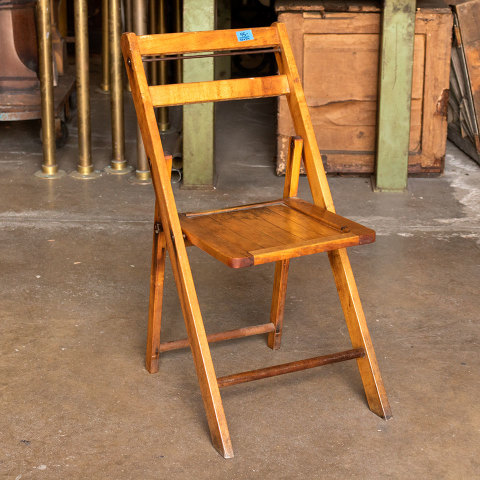 #38059 Vintage Wood Folding Chair image 1