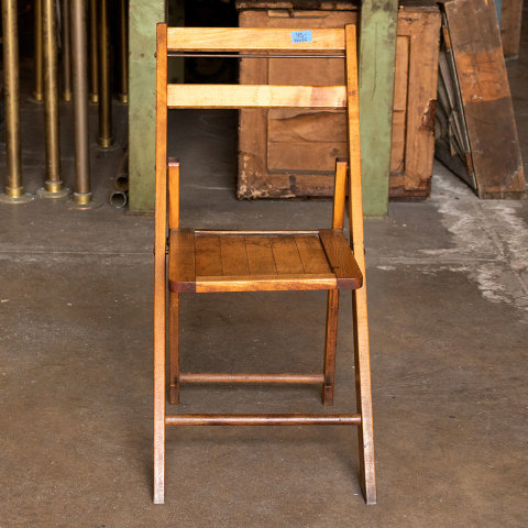 #38059 Vintage Wood Folding Chair image 2