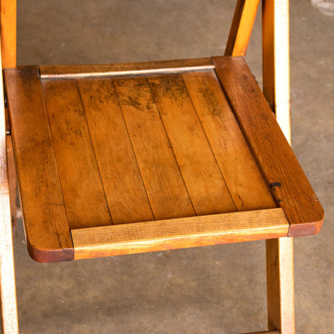 #38059 Vintage Wood Folding Chair image 4