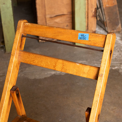 #38059 Vintage Wood Folding Chair image 3