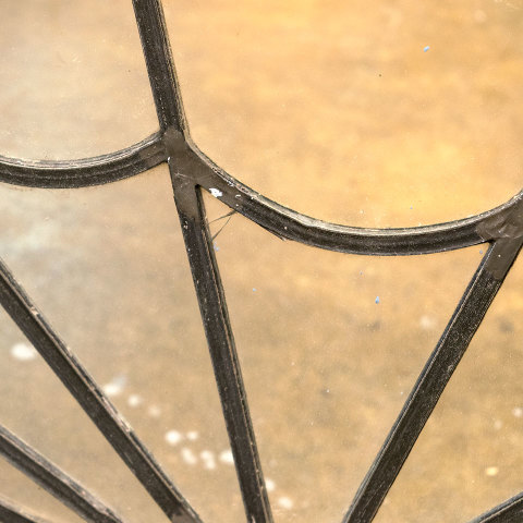 #38397 Salvaged Leaded Glass Fanlight Transom image 5