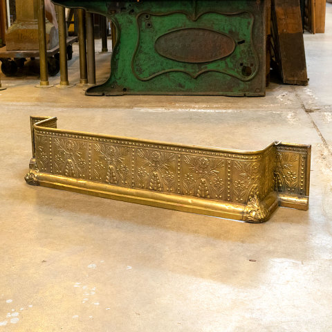 #38400 Antique Brass Fireplace Fender image 2