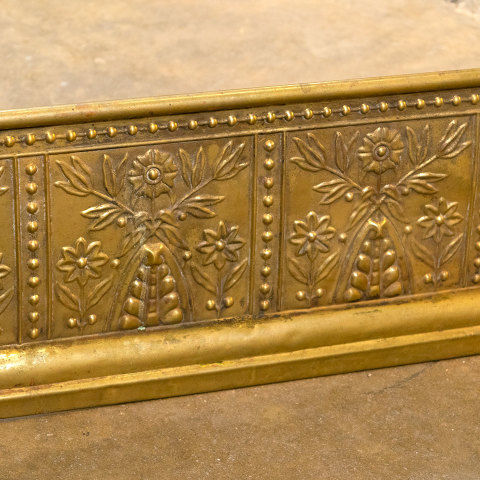 #38400 Antique Brass Fireplace Fender image 4