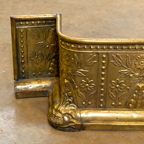 #38400 Antique Brass Fireplace Fender image 5