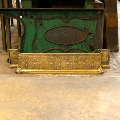 #38400 Antique Brass Fireplace Fender image 6