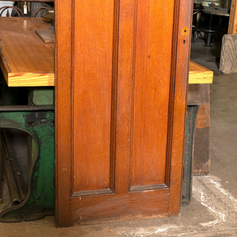 #38468 28x74 Salvaged 2 Panel Oak Door image 3