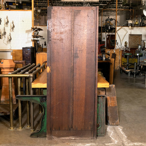 #38468 28x74 Salvaged 2 Panel Oak Door image 5