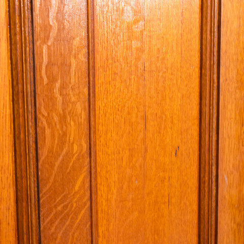 #38509 28x74 Salvaged 2 Panel Oak Door image 5