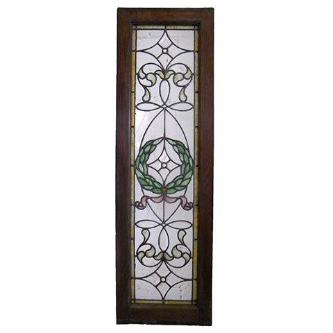 #3872 Leaded & Stained Glass Window image 1