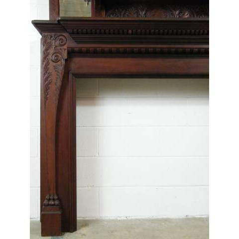 #6629 Beautiful Walnut Fireplace Mantel image 2