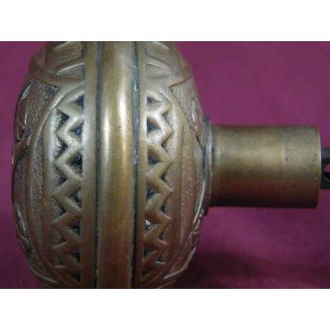 #7147 Pair of F. C. Linde & Co. Entry Doorknobs image 3