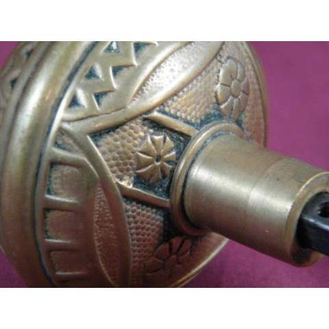 #7147 Pair of F. C. Linde & Co. Entry Doorknobs image 4