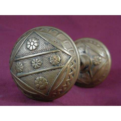 #7147 Pair of F. C. Linde & Co. Entry Doorknobs image 1